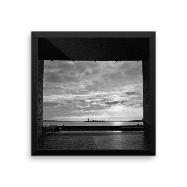 View of Liberty Framed Photograph