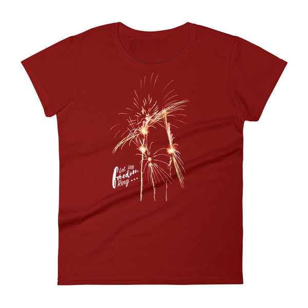 Let Freedom Ring with Fireworks Tee (Women)