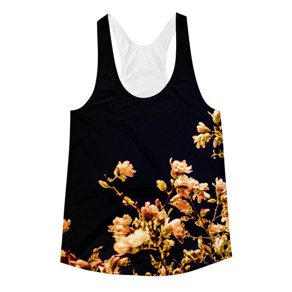 "NEW ""Evening Blossoms III"" Racerback Tank (Women)"