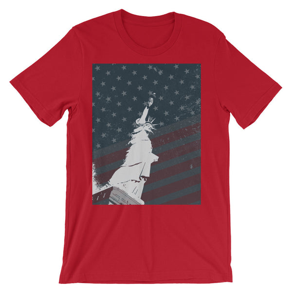 Statue of Liberty with Flag Tee (Unisex)