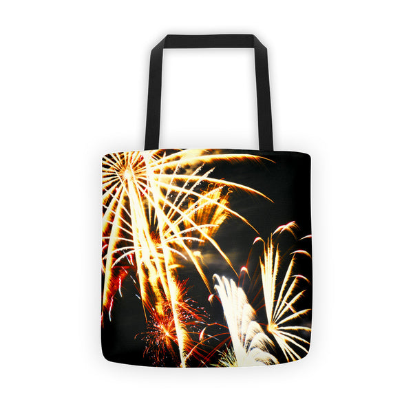 Flowering Flame Fireworks Tote