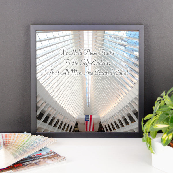 World Trade Station with Text Framed Photograph