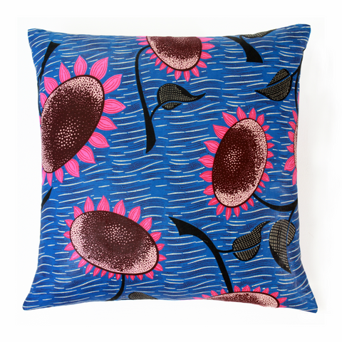 "AFRICAN PRINTS PILLOW 18x18""-Violet"