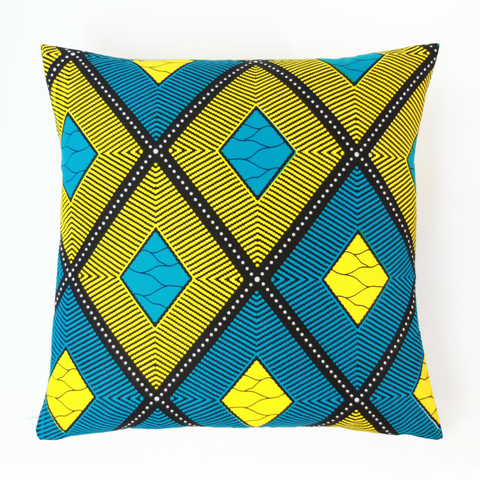 "AFRICAN PRINTS PILLOW 18x18""-Prism"