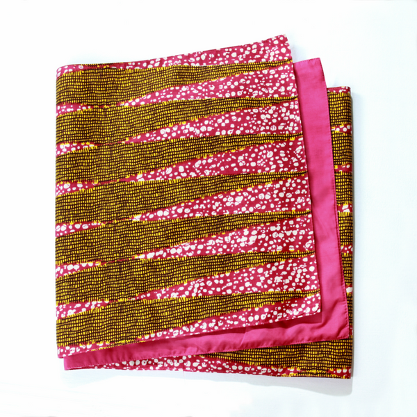 African Print Table Cloth - Grille Rose