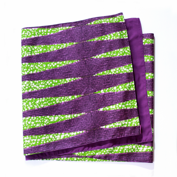 African-print Table Runner - Grille Verte