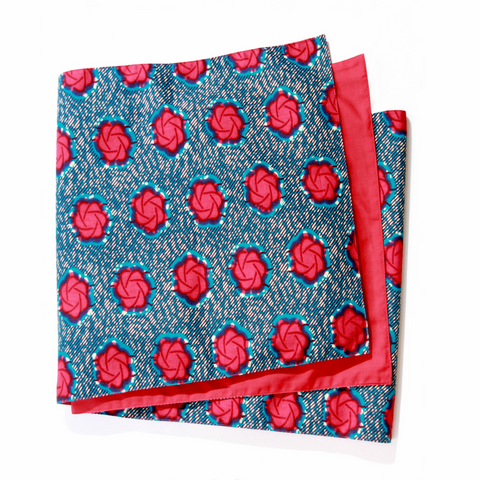 AFRICAN PRINTS TABLE RUNNER-Pois Rouge