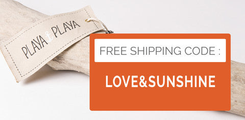 PlayaPlaya Special launch offer : free shipping code !