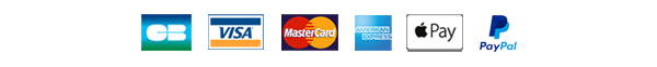 Payment secured with CB, Visa, Amex, Mastercard, Paypal, ApplePay