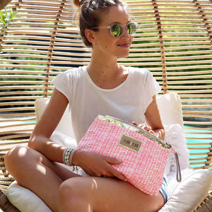 PlayaPlaya Clutch - L'Imprimé Bambou Rose