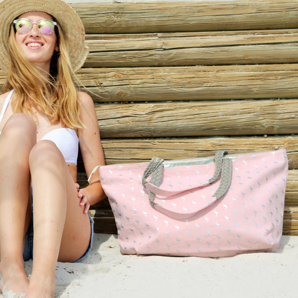 PlayaPlaya Beach Bag - L'Imprimé Flamingo