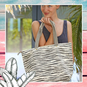 PlayaPlaya Summer Beach Bag M Size - L'Imprimé Zebra