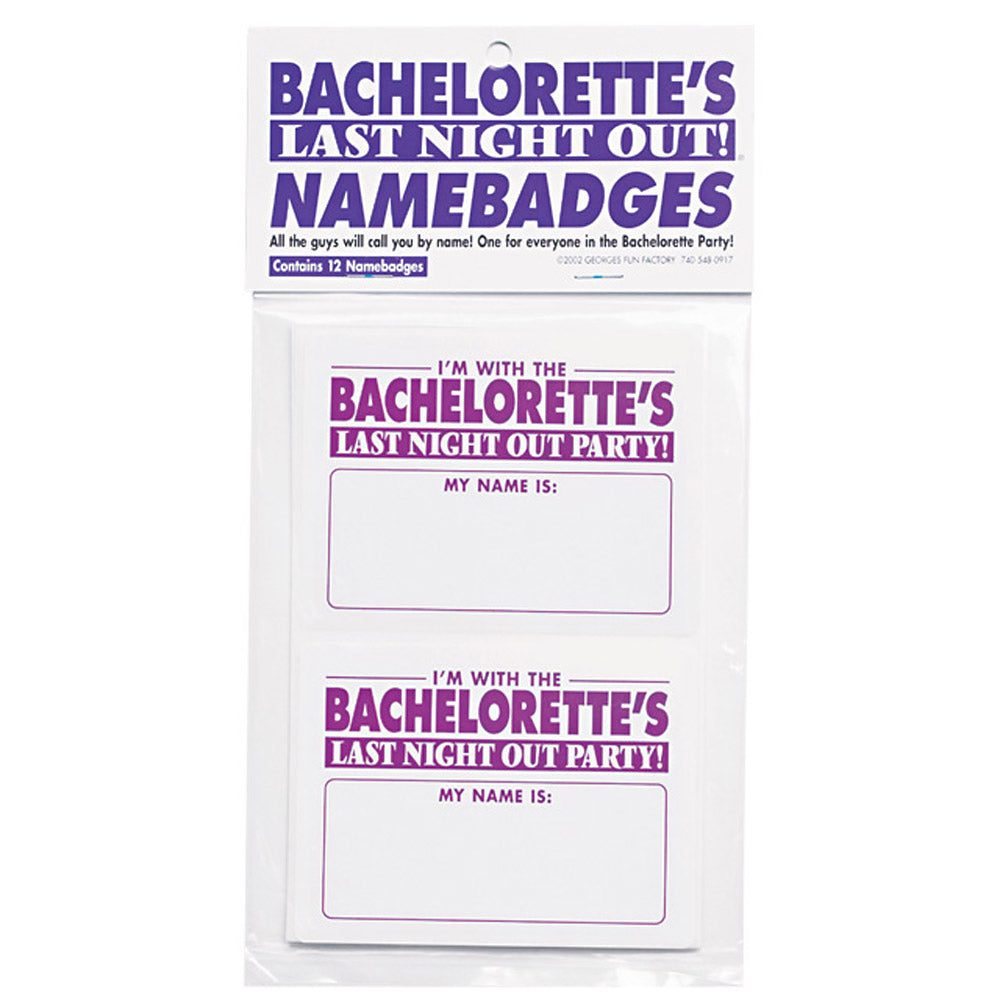 Bachelorette Namebadges