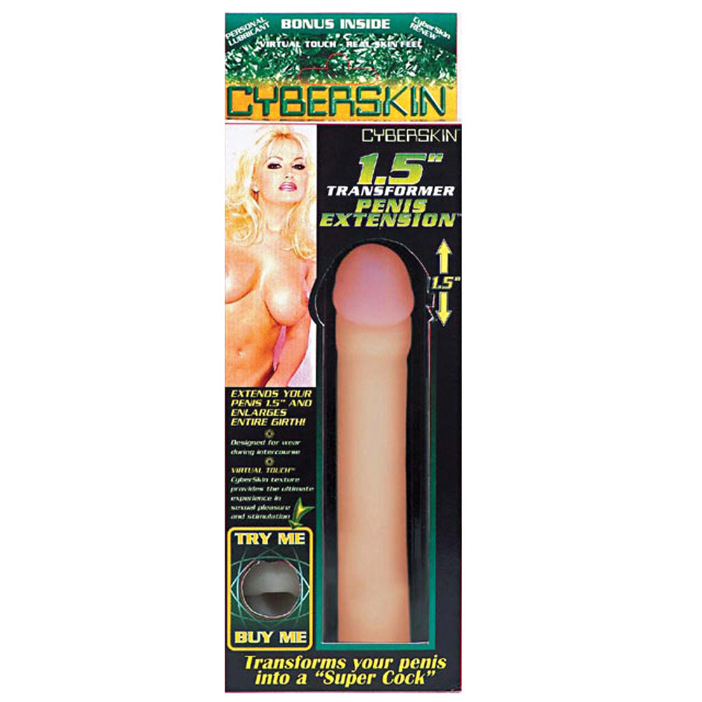 CyberSkin Transformer Penis Extension 3 Inch Natural