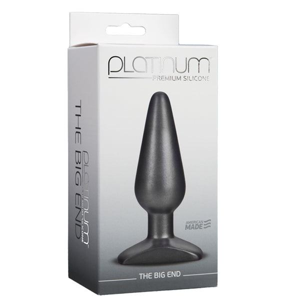 Doc Johnson Platinum Silicone The Big End Charcoal
