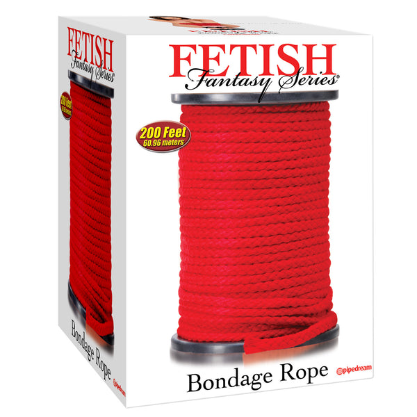 Fetish Fantasy Series Bondage Rope - 200 ft Red