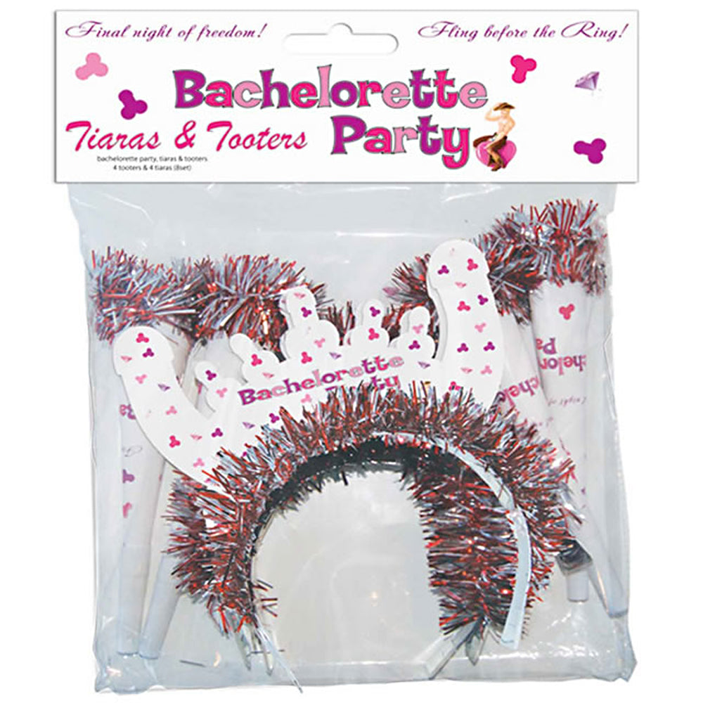 Bachelorette Tiaras and Tooters Set (8)
