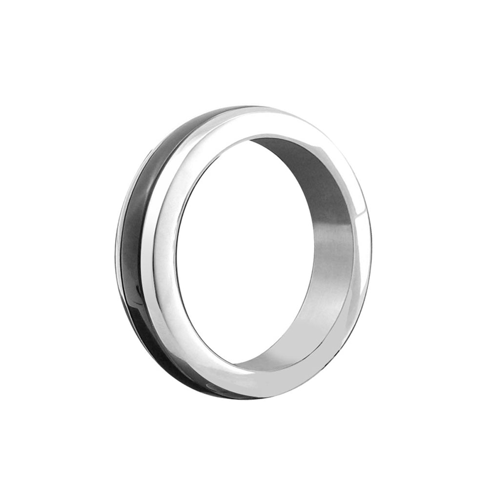 Heart 2 Heart C Ring Stainless Steel 1.75 Inch Chrome with Black
