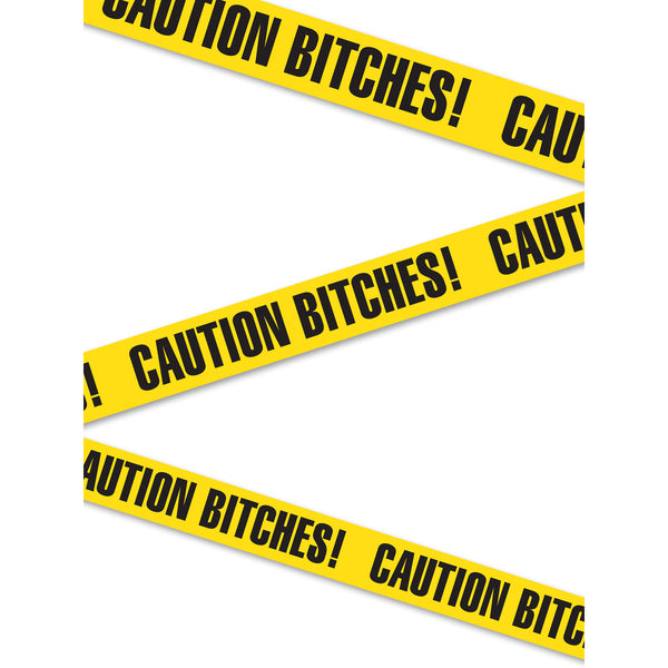 "Pipe Dreams Bachelorette Party Favors ""Caution Bitches!"" Tape"