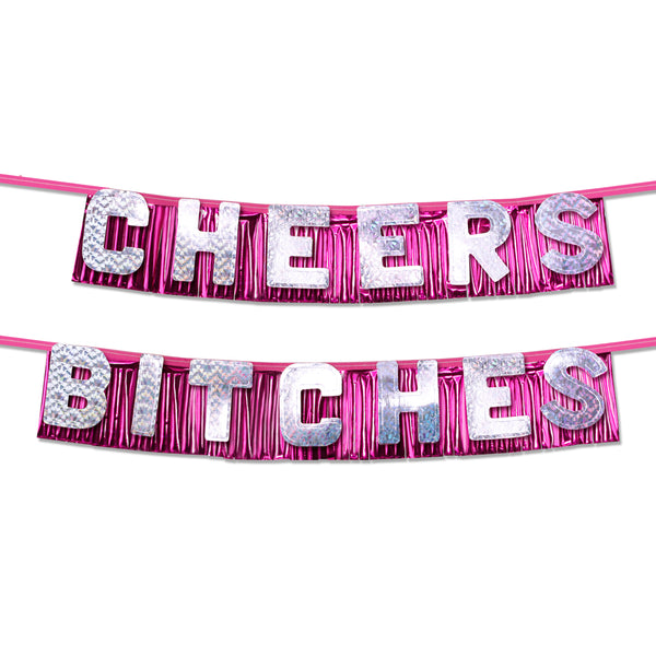 "Pipe Dreams Bachelorette Party Favors ""Cheers Bitches"" Party Banner"