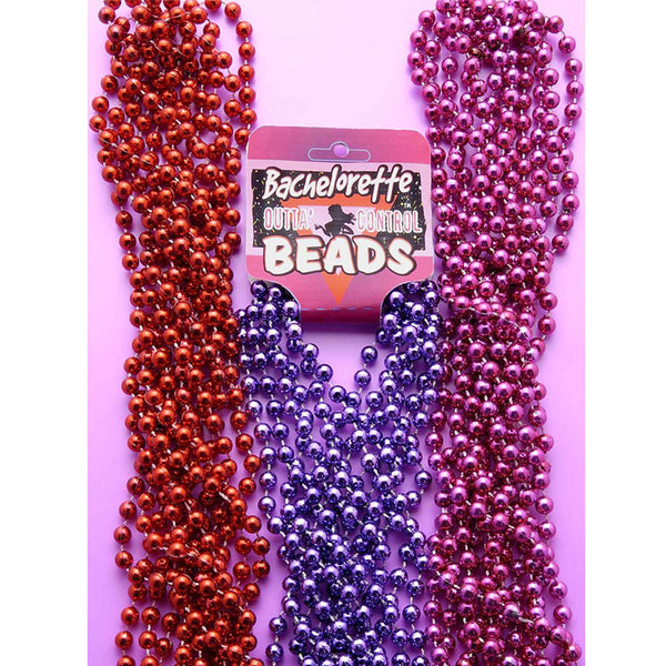 Bachelorette Beads-Red(6/per)