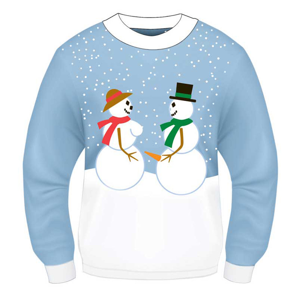 Xmas Sweater Snow Couple L/XL