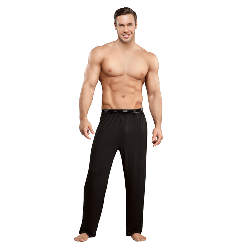 Male Power Bamboo Lounge Pant Black Med