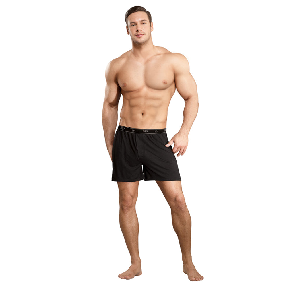 Male Power Bamboo Boxer Black Large