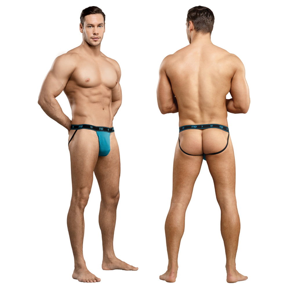 Male Power Bamboo Jock Teal SM