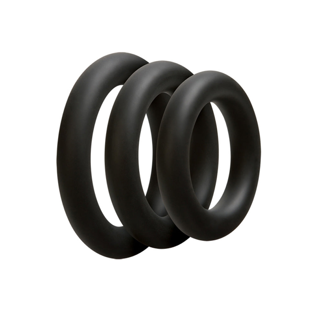 Doc Johnson OptiMALE 3 C-Ring Set Thin Black