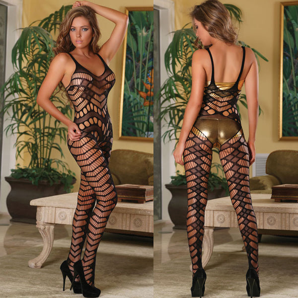 Magic Silk Club Seamless Crotchless Catsuit 119 OS