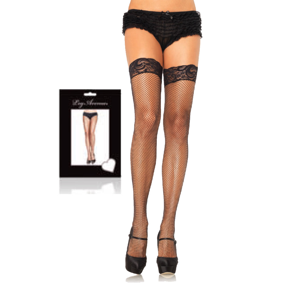 Stay Up Lycra Fshnt with Lace Thigh High O/S