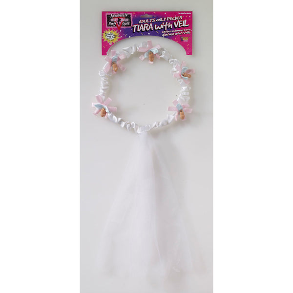 Bachelorette Tiara & Veil with Penis