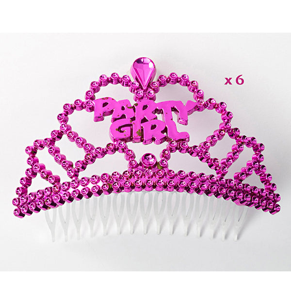 Mini Party Girl Tiara 6pk