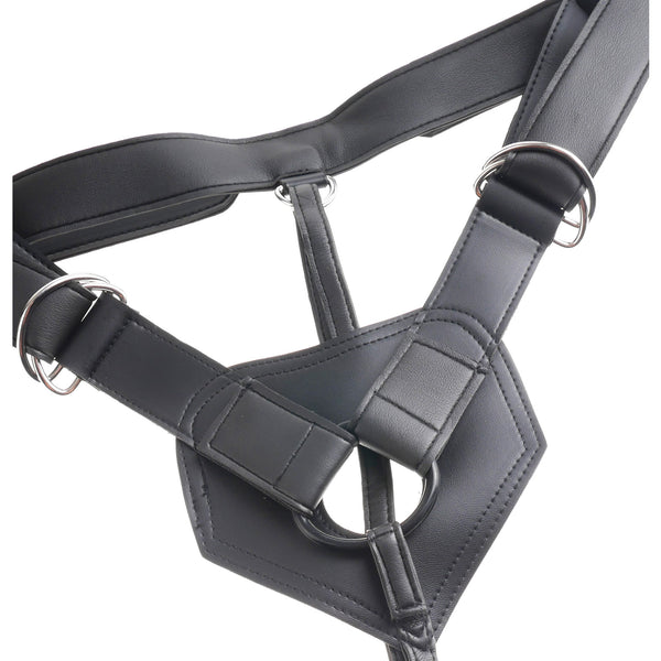 King Cock Strap On Harness with 9 inch Cock - Black