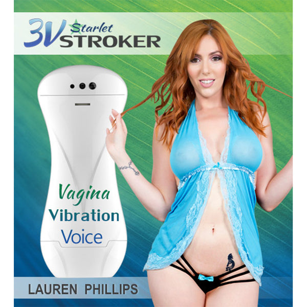3v Talking and Vibrating Starlet Stroker - Lauren Phillips