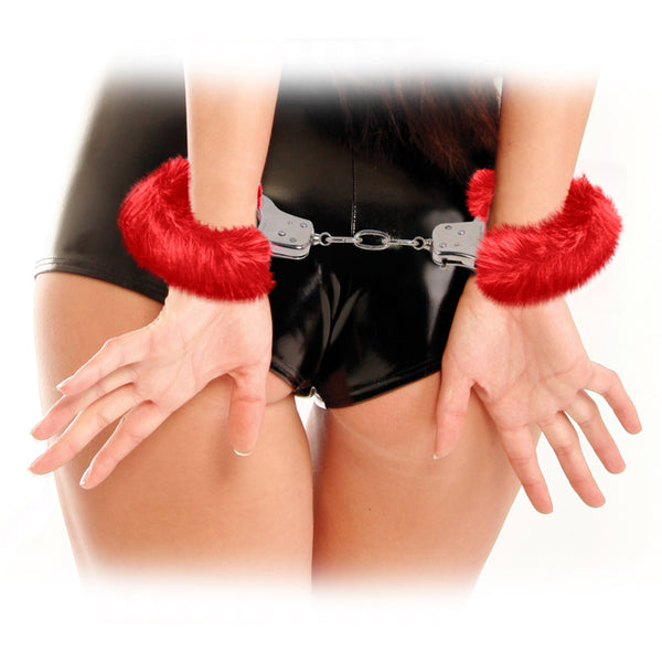 Pipe Dreams FF Original Furry Cuffs Red
