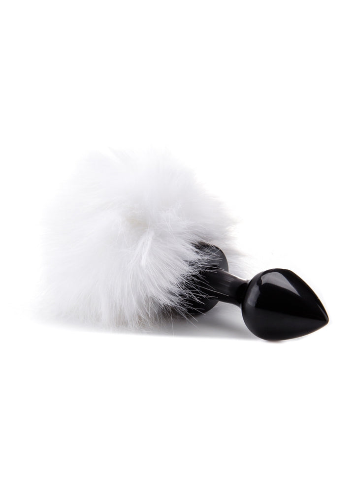 Beginner Bunny Tail Buttplug - Black