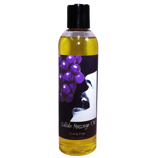 Earthly Body Edible Massage Oil Grape 8oz