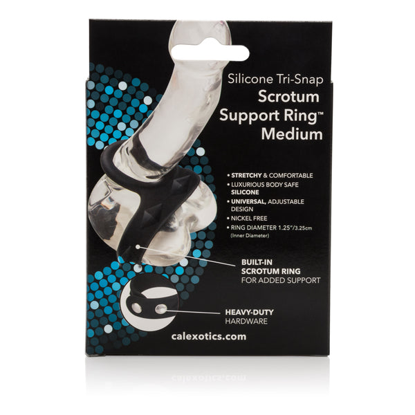 Silicone Tri-Snap Scrotum Support Ring - Medium