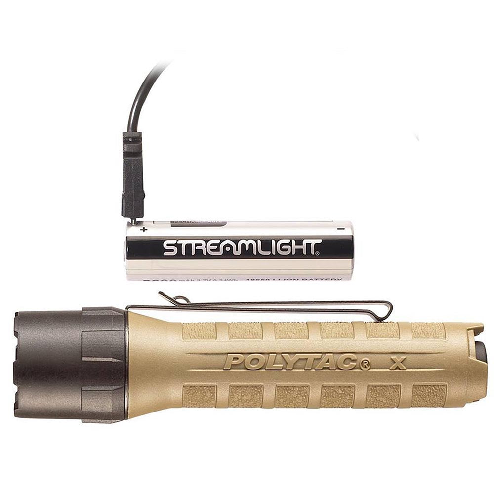 88615 LAMPARA POLYTAC X CON USB COYOTE MARCA STREAMLIGHT