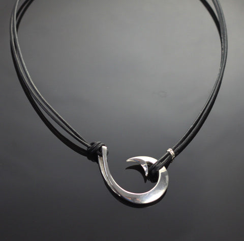 2in 1 Circle Hook Necklace-2-1P1050