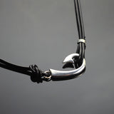 "2 in 1 Sm ""J"" Hook Necklace-2-1P1039"