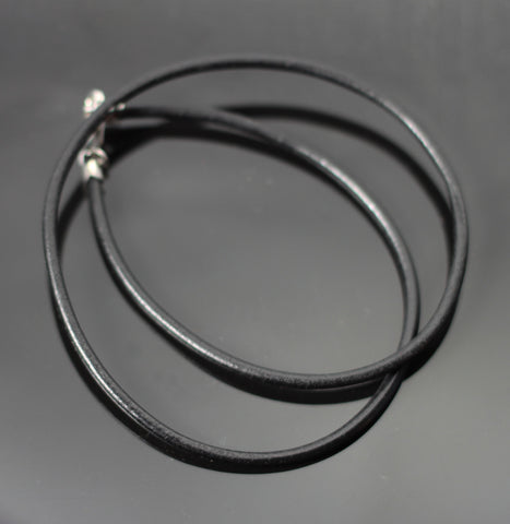 3mm Black Leather Cord