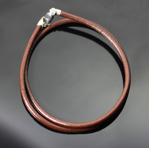 3mm Brown Leather Cord
