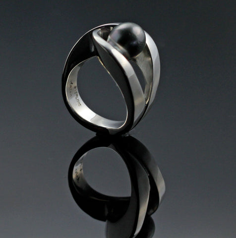 Almost There Ring w/ Tahitian Pearl-R1032TP