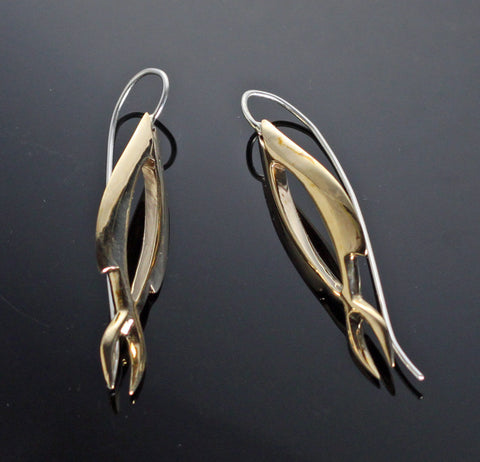 Bronze Open Fish Earrings-BREP1037