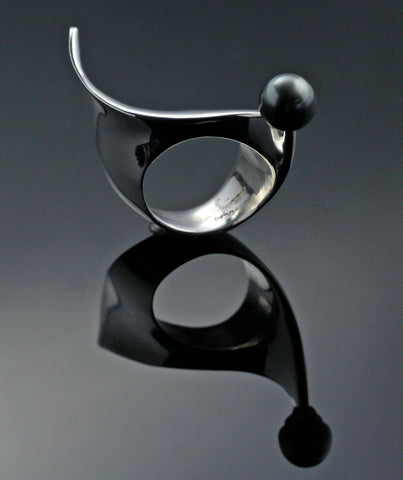 Scorpion Ring with Tahitian Pearl-R1012TP