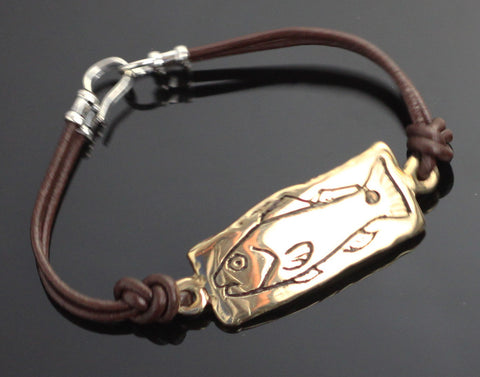 Bronze Redfish Tag Bracelet-BRBF1003