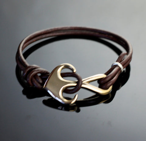 Bronze Anchor Bracelet-BRBP1051